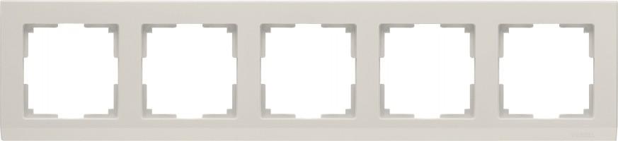 Рамка на 5 постов (слон кость) STARK/WL04-Frame-05-ivory