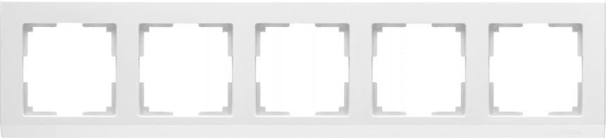 Рамка на 5 постов (белый) STARK/WL04-Frame-05-white