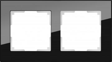 Рамка на 2 поста (черный) FAVORIT/ WL01