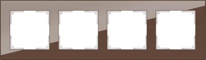 Рамка на 4 поста (мокко) FAVORIT/ WL01