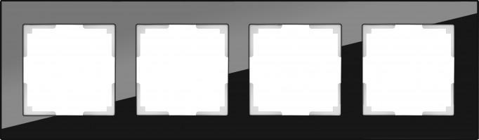 Рамка на 4 поста (черный) FAVORIT/ WL01