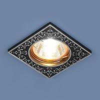 Светильник 120071 MR16 черный/серебро