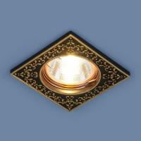 Светильник 120071 MR16 черный/золото