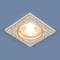 Светильник 120071 MR16 белый/золото