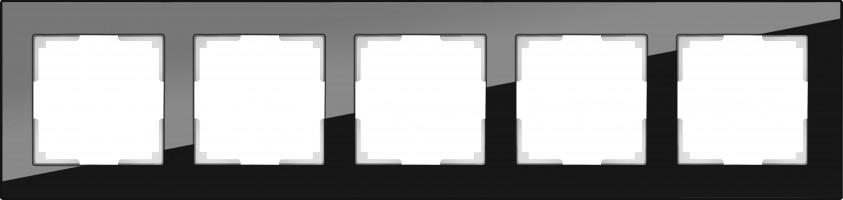 Рамка на 5 постов (черный) FAVORIT/ WL01