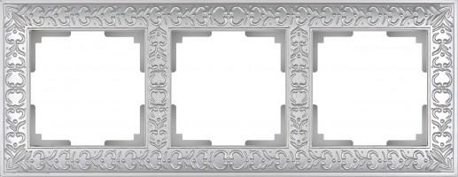 Рамка на 3 поста (жемчужный) ANTIK/WL07