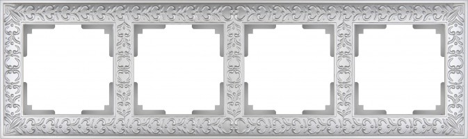 Рамка на 4 поста (жемчужный) ANTIK/WL07
