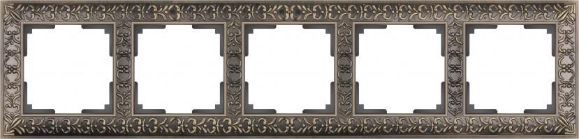 Рамка на 5 постов  (бронза) ANTIK/WL07-Frame-04