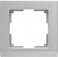 Рамка на 1 пост (серебряный) STARK/WL04