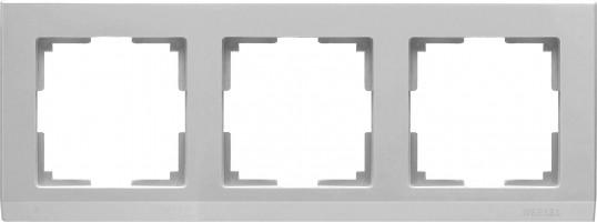 Рамка на 3 поста (серебряный) STARK/WL04