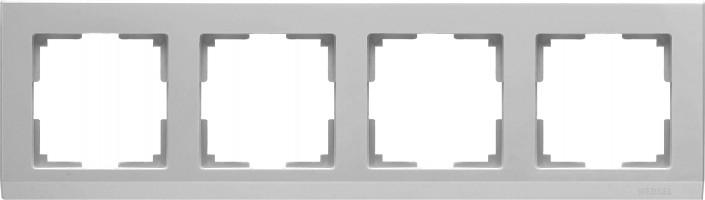 Рамка на 4 поста (серебряный) STARK/WL04
