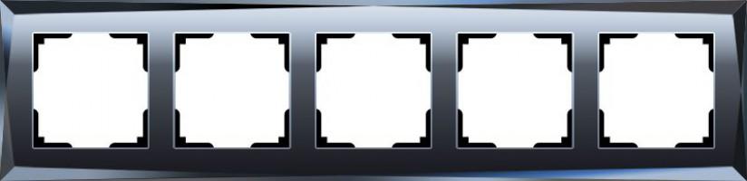 Рамка на 5 постов (черный) /WL08-Frame-04