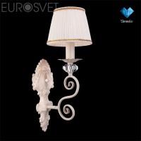 Настенный светильник 3300/1 белый с золотом/прозрачный хрусталь