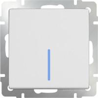 Выключатель 1клавишный с подсветкой (белый) /WL01-SW-1G-LED