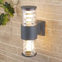 Уличный светильник Techno 1407 серый (стена) Е27 2x60W