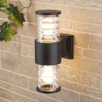 Уличный светильник Techno 1407 черный (стена) Е27 2x60W