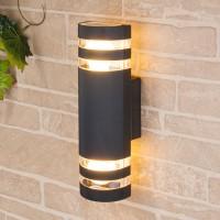Уличный светильник Techno 1443 черный (стена) Е27 2x60W