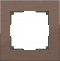 Рамка на 1 пост (коричневый алюминий)  ALUMINIUM/ WL11