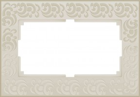 Рамка для 2 розетки (слон кость)  FLOCK/WL05