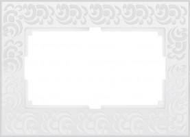 Рамка для 2 розетки  (белый)  FLOCK/WL05