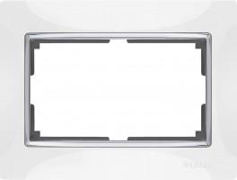 Рамка для двойной розетки (белая) SNABB/WL03-Frame-01-white