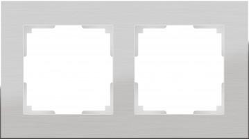 Рамка на 2 поста (алюминий)  ALUMINIUM/ WL11