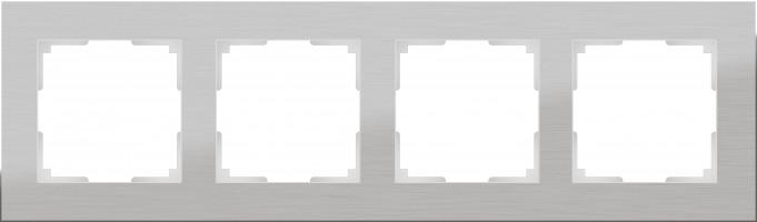 Рамка на 4 поста (алюминий)  ALUMINIUM/ WL11