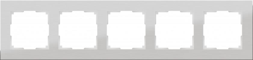 Рамка на 5 постов (алюминий)  ALUMINIUM/ WL11