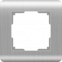 Рамка на 1 пост (серебряный)  STREAM/ WL12