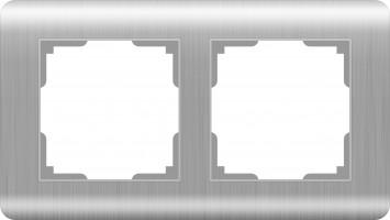 Рамка на 2 поста (серебряный)  STREAM/ WL12