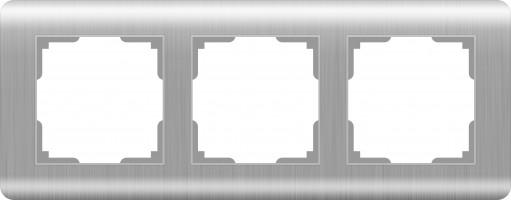 Рамка на 3 поста (серебряный)  STREAM/ WL12