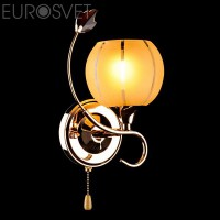 Настенный светильник 3457/1 золото/желтый