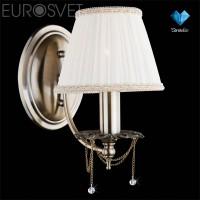 Настенный светильник 3645/1 античная бронза/прозрачный хрусталь