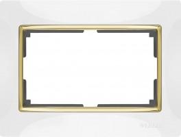 Рамка для 2 розетки (белый/золото) SNABB/WL03
