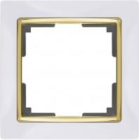 Рамка на 1 пост (белый/золото) SNABB/WL03
