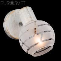 Настенный светильник 20036/1 белый с золотом/хром
