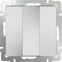 Выключатель 3клавишный (белый) /WL01-SW-3G
