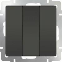 Выключатель 3клавишный (серо-коричневый) /WL07-SW-3G