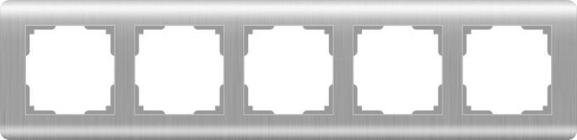 Рамка на 5 постов (серебряный)  STREAM/ WL12