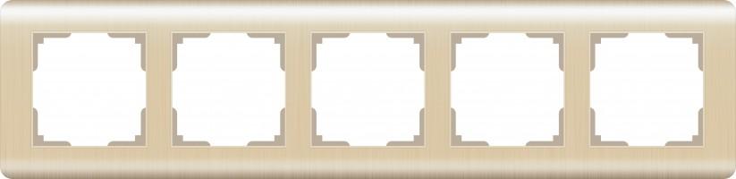 Рамка на 5 постов  (шампань)  STREAM/ WL12