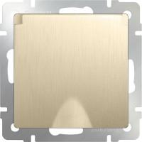 Розетка влагозащ. с заземлением, крышкой и шторками (шампань рифленый) /WL10-SKGSС-01-IP44