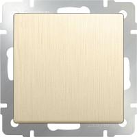 Выключатель 1клавишный проходной (шампань рифленый) /WL10-SW-1G-2W
