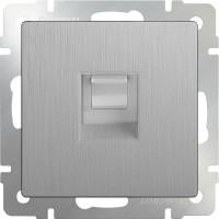 Розетка Интернет RJ-45 (серебряный рифленый) /WL09-RJ-45