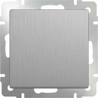 Выключатель 1клавишный (серебряный рифленый) /WL09-SW-1G