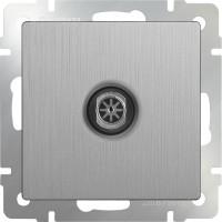 ТВ розетка оконечная (серебряный рифленый) /WL09-TV