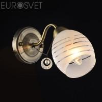 Настенный светильник 30061/1 античная бронза