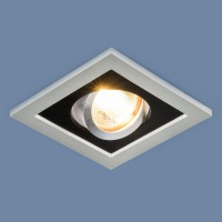 Светильник 1031/1 MR16 SL/BK серебро/черный