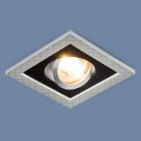 Светильник 1041/1 MR16 SL/BK серебро/черный