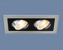 Светильник 1041/2 MR16 SL/BK серебро/черный