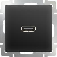 Розетка HDMI (черный матовый) / WL08-60-11